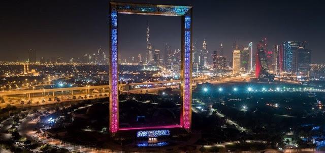 Dubai Frame,iconic buildings in Dubai,mydubai,led ,tryka ,rgb lights,zabeel park,uae, largest frame in world