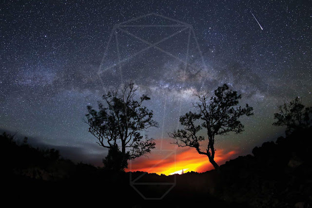 This is an image of night sky view without Light Pollution- thelightingblog.info