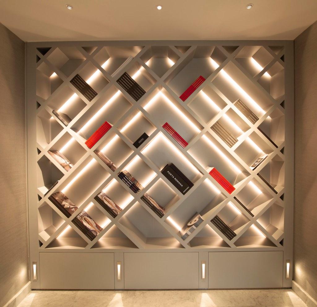 John Cullen Lighting,Library Lighting, Interior Lighting,LED Strip lighting, lighting Design,Dubai Lighting, The Lighting Blog, Joinery Lighting